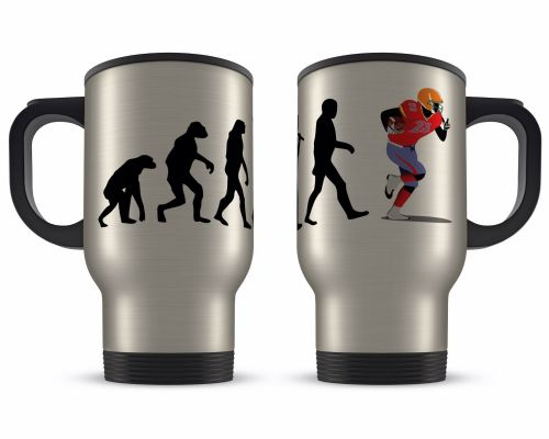 14oz Evolution Of A Sport Novelty Gift Aluminium Travel Mug